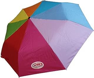 VTG (Variety To Go) Windproof Compact Travel Umbrella, Windproof Auto Open/Close Travel Umbrella, Auto Folding Travel Umbrella for Women, Men, Kids (Rainbow)