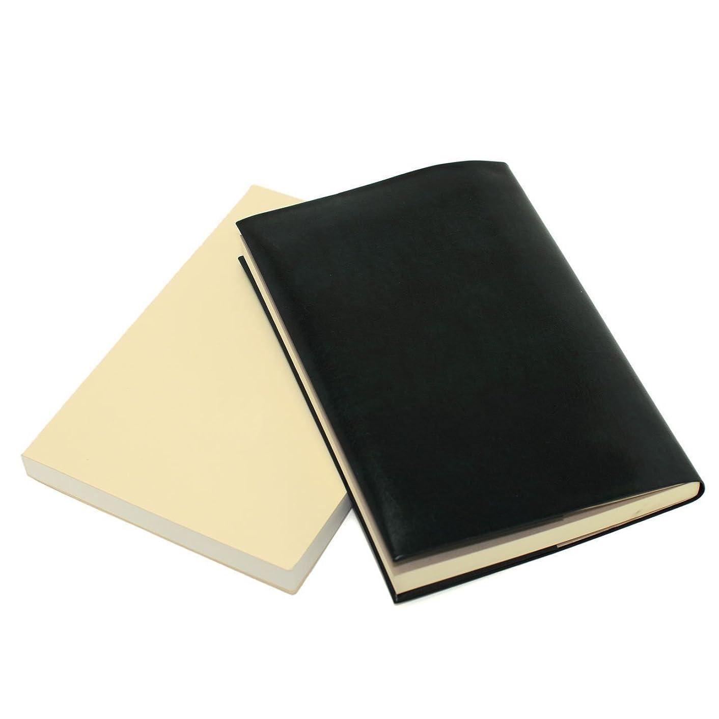 有罪嬉しいです裸お手入れいらずのほぼ日手帳カズン対応 A5サイズ リサイクルレザー カバー(クロムグリーン)