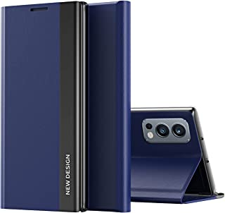 Coque Etui do OnePlus Nord 2 5G pokrowiec, inteligentna klapka etui na telefon z boku okna, odporne na wstrząsy etui na te...