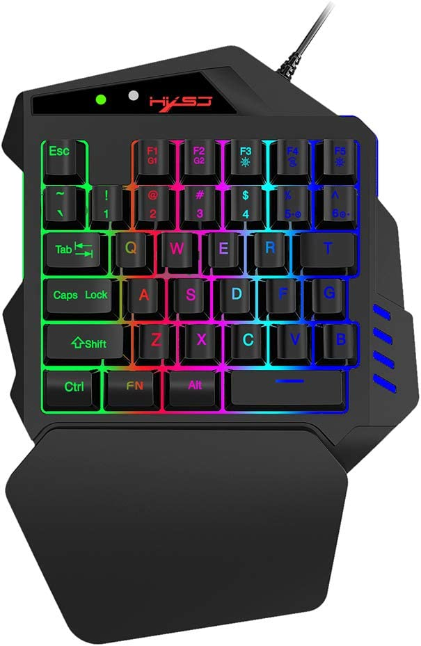 MagiDeal One Handed Gaming Keyboard Backlit Japan's New life largest assortment Wired LED RGB Single