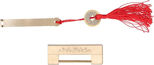 Mini vintage hangslot met sleutel 4,4 cm afstandsslot voor juwelendoos