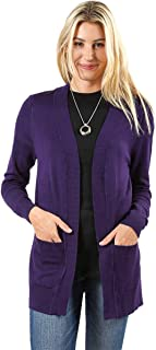 Cardigans for Women Open Front Knit Long Sleeve Pockets Sweater Cardigan