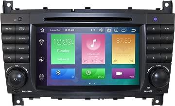 Sistema de audio estéreo para coche (Android 9.0, para Mercedes Benz Clase C W203 2004-2007, CLC W203 2008-2010, Clase CLK W209 2005-2011, compatible con GPS Navi, DAB +, BT, RDS Radio, SWC, WiFi)