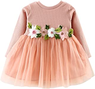 Wiwsi Girls Dresses Baby Fashion Princess Bridesmaid Pageant Tulle Gown Clothes
