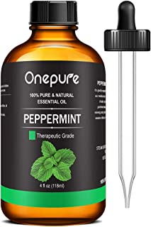 Onepure 100% Pure Peppermint Essential Oil - (4.0 Fl Oz/118ml) - Aromatherapy Essential Oils for Diffuser and Topical Use ...
