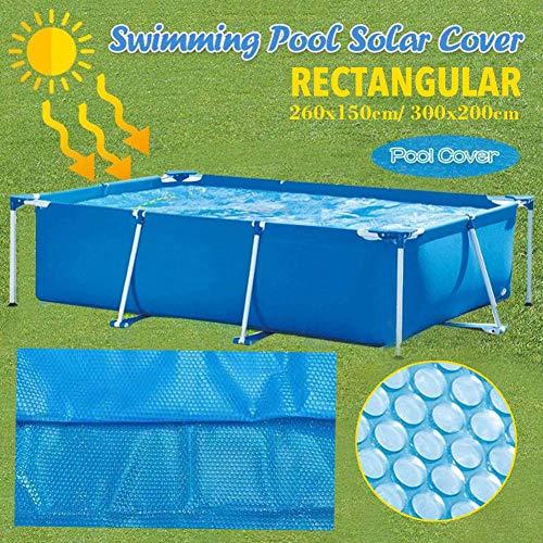 Hete-supply 300x200cm Solarabdeckplane Rechteckig für Frame Pool, Pools solarplane für Poolerwärmung, Schwimmbecken Abdeckung Solarfolie, Schwimmen Poolheizung Poolabdeckplane, Verdunstungsschutz