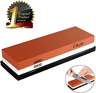 BearMoo Whetstone Premium 2-IN-1 Sharpening Stone 3000/8000 Grit Waterstone Kit –..