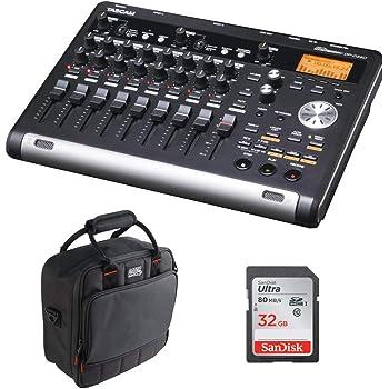 Tascam DP-03SD Digital Portastudio 8-Track Recorder with G-MIXERBAG-1212 Mixer Bag & 32GB Memory Card Bundle