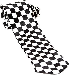 Trendy Skinny Tie - Black and White Checkered
