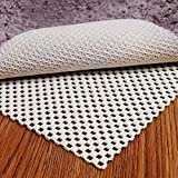 Puroma Non-Slip Area Rug Pad, 5 x 7 Ft Extra Thick Rug Gripper Protective Cushioning Pad for Hardwood Floors, White