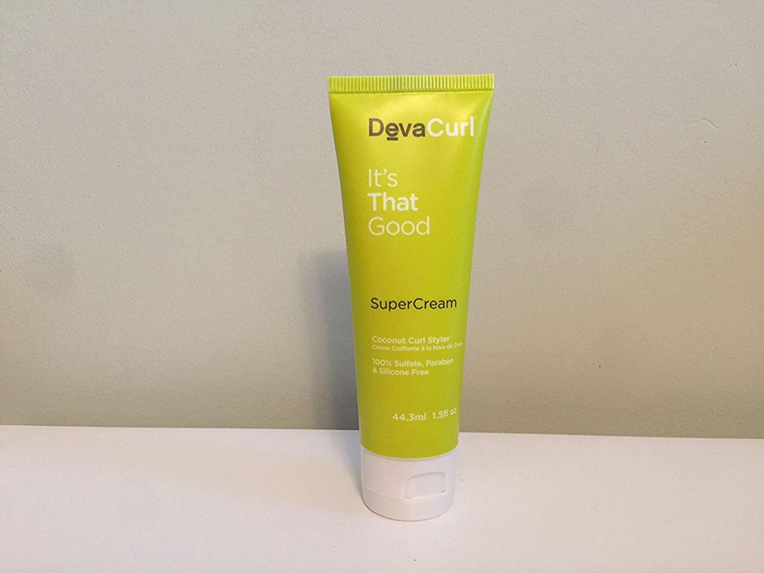 DevaCurl SuperCream Coconut Curl Styler, Deluxe Travel Size, 1.5 oz