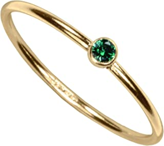 14kt Gold Filled Color CZ Stacking Rings