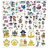 Tattoo Kinder, AGPTEK Pirate Tattoos Set, 14 Blätter Wasserdichte Kindertattoos mit Bronzing...