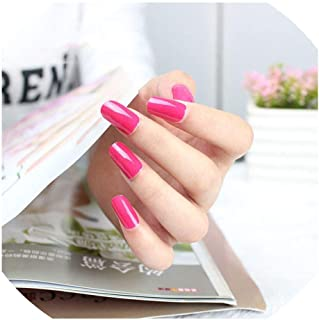 Nail art sticker pure candy color full size nail stickers 3D manicure grey black red nail polish DIY self adhesive strip,5288