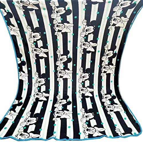 HUANGRONG Mantas de Peluche Dibujos Animados de Disney Blanco y Negro Mickey Mouse Lightweight Llush Lanzamiento para niños en la Cama Sofá Sofá 150x200cm colchas (Color : 150x200cm Minnie)