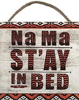 Barry Goodman NA MA ST 'ay Lit en bloc de bois, Multicolore, 20x 20cm