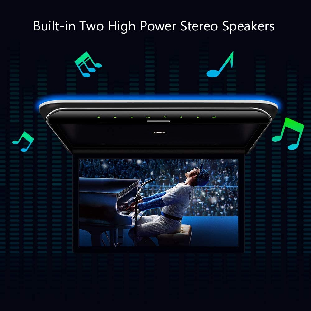 HDMI Stereo Speakers AV Input USB XTRONS 19.5 Inch Car Overhead Player 16:9 Wide Screen 1080P Video Car Roof Mount Monitor Ultra-Thin Flip Down Overhead Car Monitor Supports IR /& FM Transmitter