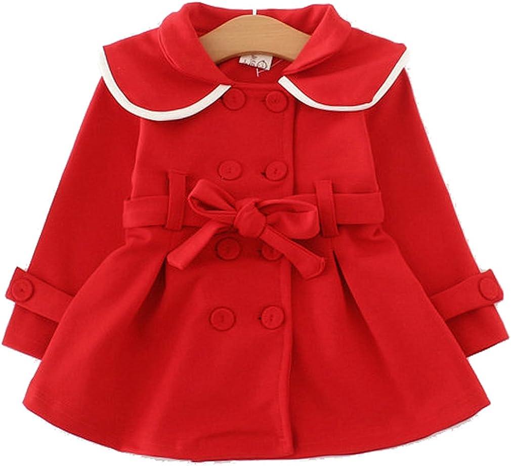 YYA 6M-9T Baby Toddler Girls Long Sleeve Outwear Windbreaker Coat