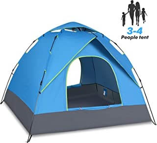 Amagoing 4 Person Tents for Camping with Instant Setup Double Layer Waterproof for 4 Seasons