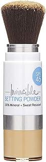 Supergoop! Invincible Setting Powder, Medium - 0.15 oz - 100% Mineral Makeup Setting Powder & Broad Spectrum SPF 45 Sunscr...