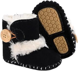 جونبايم حديثي الولادة الرضع البنين بنات الثلج أحذية طويلة الرقبة الرُضع نعل ناعم مضاد للانزلاق الشتاء دافئ أحذية