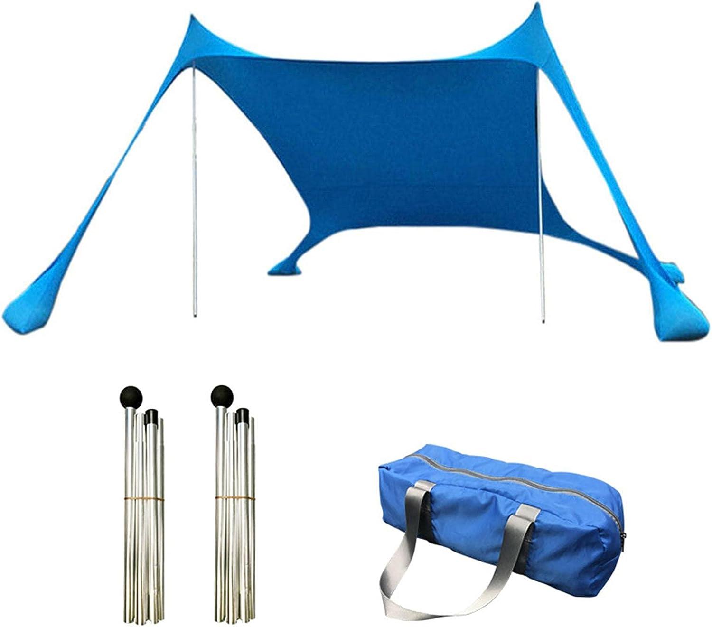 Riastvy Beach Tent Sun Japan's largest assortment Anti-UV Family Max 64% OFF 210×170×150cm Shade