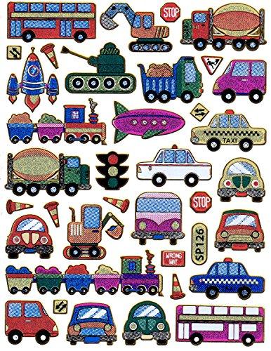 Voitures Bus Truck Decal Autocollant de décalque 1 Metallic Glitter Dimensions de la Feuille: 13,5 cm x 10 cm