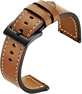 Kartice Compatible with Galaxy Watch (46mm) Bands Gear S3 Bands 22mm Leather Strap Replacement Buckle Band for Samsung Gear S3 Frontier Watch