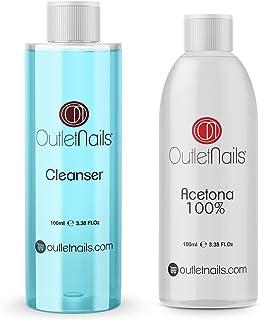 Cleaner 100ml Coco Azul + Acetona 100% Pura 100ml de alta calidad | Made in Spain