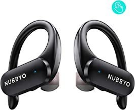 $39 » NUBBYO True Wireless Earbuds Bluetooth Headphones 5.0 Touch with Volume Control Stereo Sound Earphones Binaural Call Headset Sweatproof Ear Buds with Mic and Charging Case for Sport Workout Running