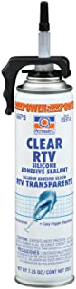 Permatex 85913 Clear RTV Silicone Adhesive Sealant, 7.25 oz. PowerBead Can