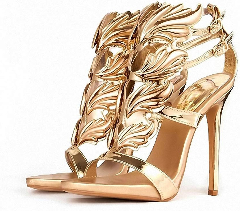 Womens High-Heeled Pumps shoes Fashion Women Pumps Leaf Flame High Heel Pumps shoes for Women Sexy Peep Toe High Heels Sandals Party Wedding shoes Woman