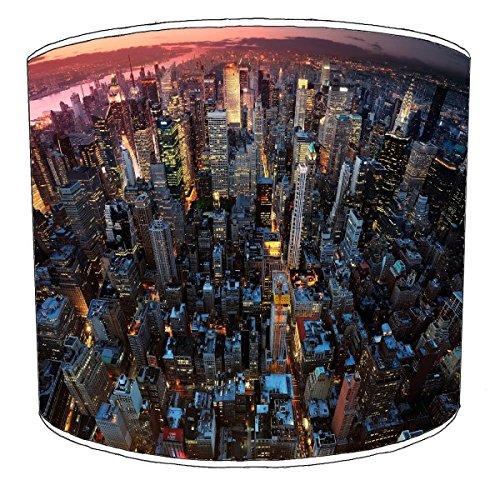 Premier Lighting Ltd 12 inch New York Red Sky Abat-Jour pour Une Lampe de Table