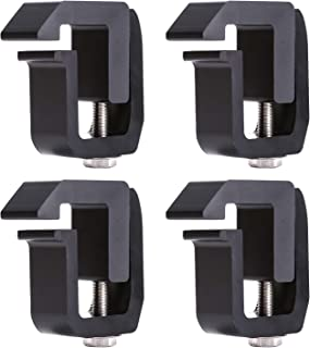 AA-Racks P-AC-08 Truck Cap/Camper Shell Mounting Clamp fit Chverolet Silverado S-10 Colorado/GMC Sierra Sonoma Canyon, Dodge Ram, Ford F-150 F-250 F-350, Set of 4 - Black