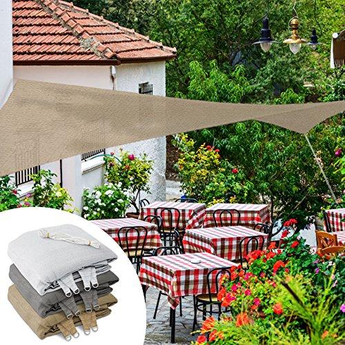casa pura Lona de Sombra - Toldo Exterior terraza   Pet Alta Densidad   Excelente Proteccion UV   3 Colores, Varios tamaños y Formas (Arena, 5x7 m)