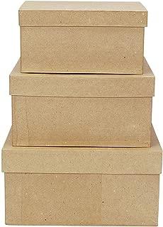 Best square paper mache boxes Reviews