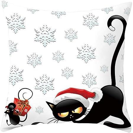Imprimé animal Coton et Lin Voiture Cartoon Mignon canapé moderne bureau Housse de coussin
