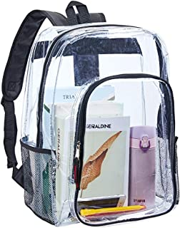 Clear Transparent Backpack, Heavy Duty Multi-pockets Bookbag, Clear PVC See Through Outdoor Backpacks for Daily Trip, Security, Sports