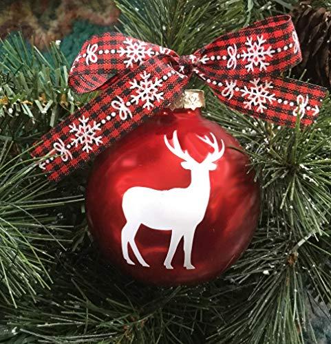 Yor242len Adorno de bola de Navidad con diseño de reno