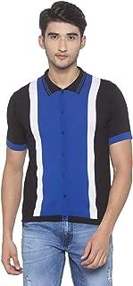 Globus Royal Blue & Black Solid Shirt