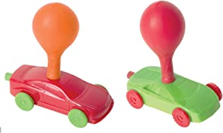 Perfect Life Ideas Balloon Powered Toy Race Cars - Air Power Car Racer Vehicles Play Kit Set - 2 Racing Cars + 12 Balloons - Toys for Kids Party Favors Birthday Gifts Stuffers
