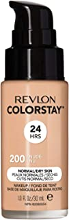 Best Revlon ColorStay Makeup for Normal/Dry Skin SPF 20, Longwear Liquid Foundation, with Medium-Full Coverage, Natural Finish, Oil Free, 200 Nude, 1.0 oz Reviews