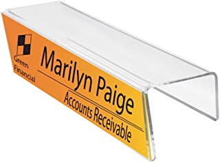Plastic Products Mfg Single-Sided Cubicle Name Plates 8-1/2