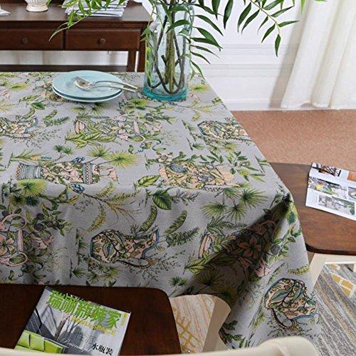 DXG&FX Tropische Zuidoost-Aziatische stijl behang Dikke katoenen tafelkleed die doek decoratieve doek tafelkleed