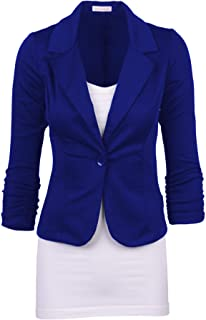 Elonglin Women's Lapel Blazer Casual Open Front Work Office Jacket Suit Long Sleeve Blazer Jacket