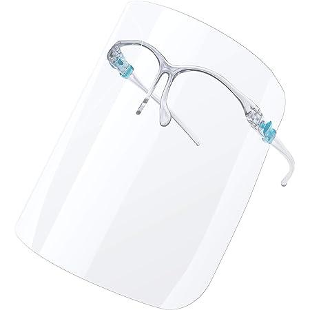 Sicherheits-Gesichtsschutz zuf/ällige Farbe f/ür Reisen im Freien Spritzschutz universal wiederverwendbar atmungsaktives Visier