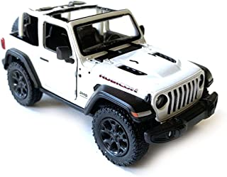 HCK Jeep Wrangler Rubicon 4x4 Convertible Off Road Exploration Diecast Model Toy Car White