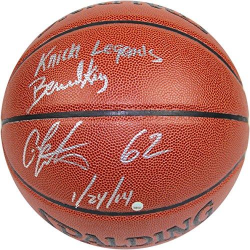 Check Out This NBA New York Knicks Bernard King/Carmelo Anthony Dual Signed I/O Brown Basketball