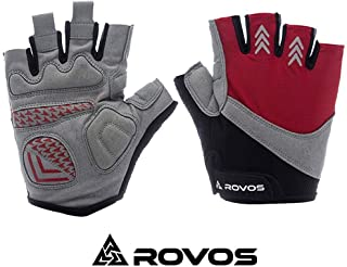 ROVOS Bike Gloves Men/Women Half Finger Breathable Mountain Sports Cycling Gloves