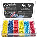 360PCS T Tap Wire Connectors, Sopoby Electrical Connectors Quick Wire Splice Taps with Insulated Male Quick Disconnect Terminals Assortment Kit
